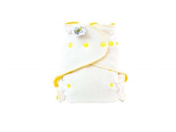 Kalhotková plenka se zvýšenou savostí denní/noční - žlutá patentky