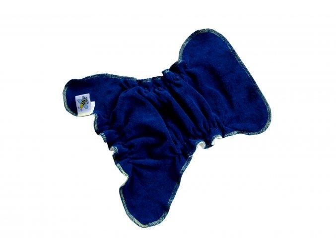 Novorozenecká kalhotková plenka na snappi - Tmavě modrá/žlutá