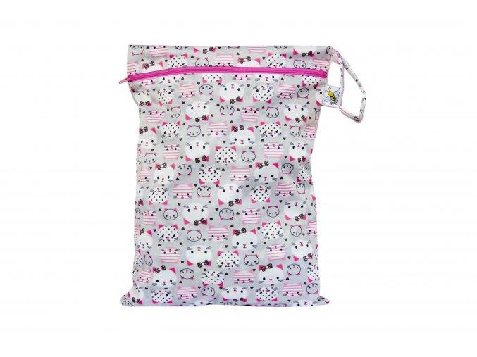 PUL pytel na plenky Kitty (růžový zip)