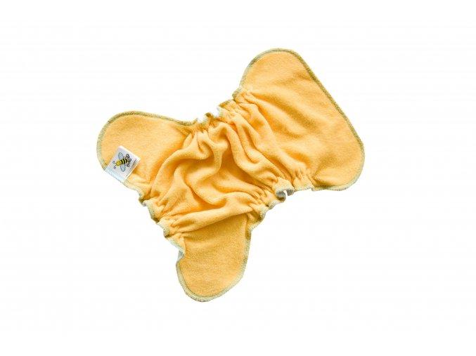 Novorozenecká kalhotková plenka na snappi - Meruňka/zelená