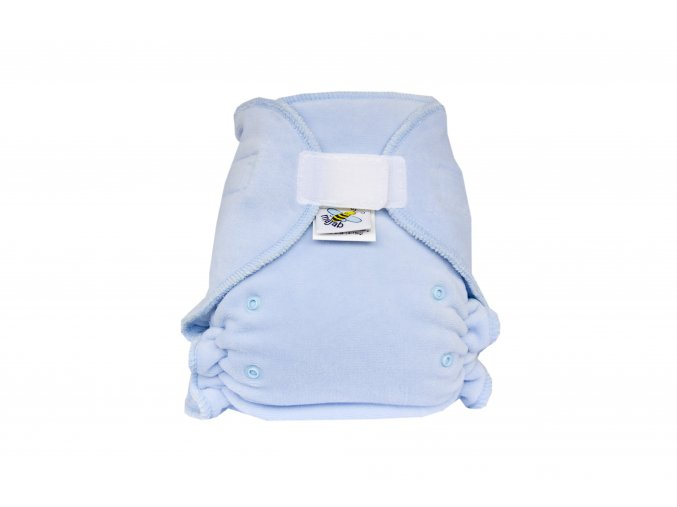 Kalhotková plenka velur Světle modrá suchý zip