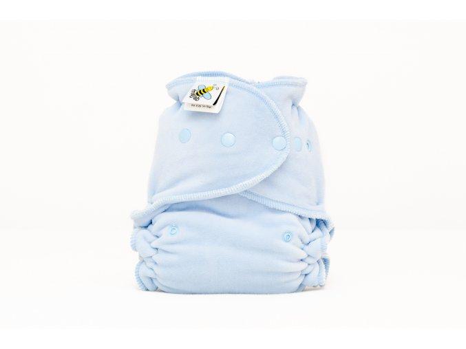 Kalhotková plenka velur světle modrá PAT
