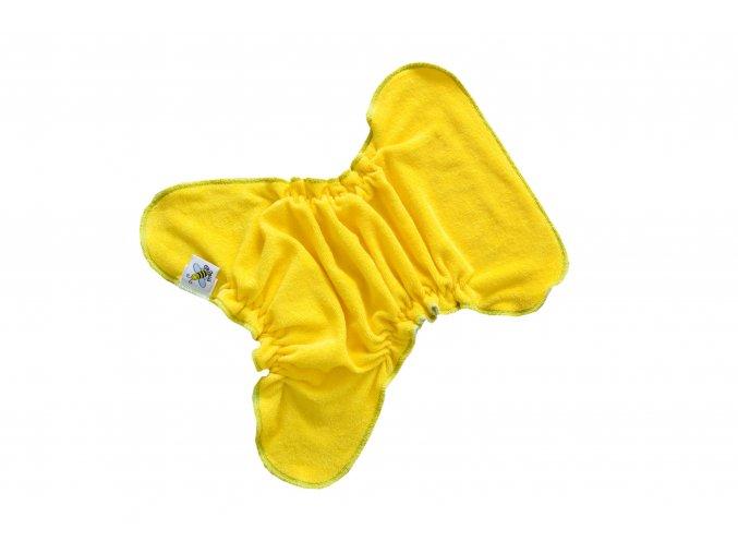 Kalhotková plenka na snappi ŽLUTÁ/tyrkysová