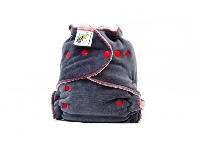 Kalhotková plenka Extra savá noční antracit /červená/ PAT