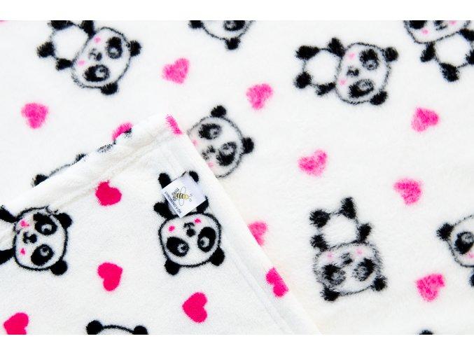 MAJAB Dětská deka Pandy