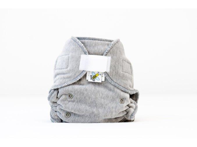 Kalhotková plenka velur Šedé melé suchý zip