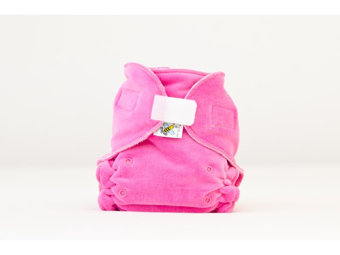 Kalhotková plenka velur TMAVĚ RŮŽOVÁ suchý zip