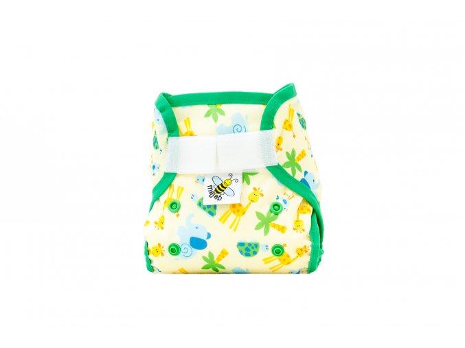 PUL svrchní kalhotky Žirafky MINI (novorozenecké)