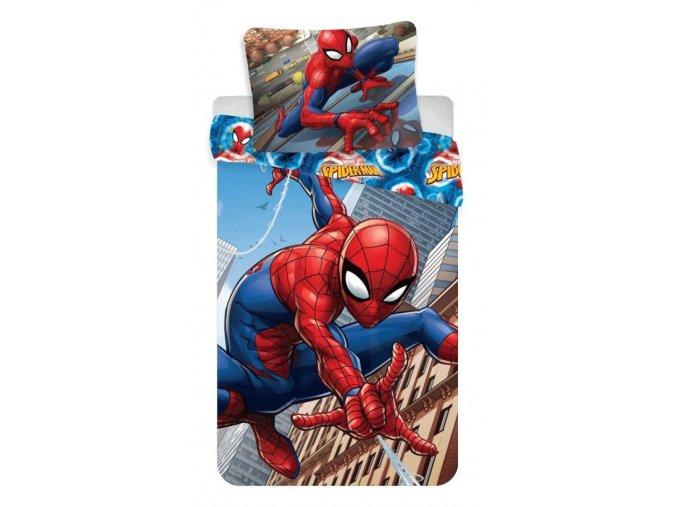 Spiderman climbs