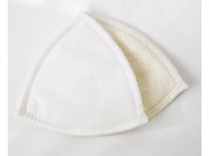 Vložky do podprsenky nepropustné kojenecký plyš BÍLÉ - 1 pár