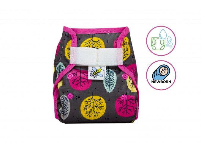 PUL svrchní kalhotky Proti šedi novorozenecké (super air PUL)