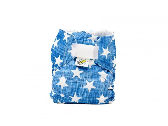 Kapsová plenka AIO - Hvězdičky na modré/bílá (fleece)