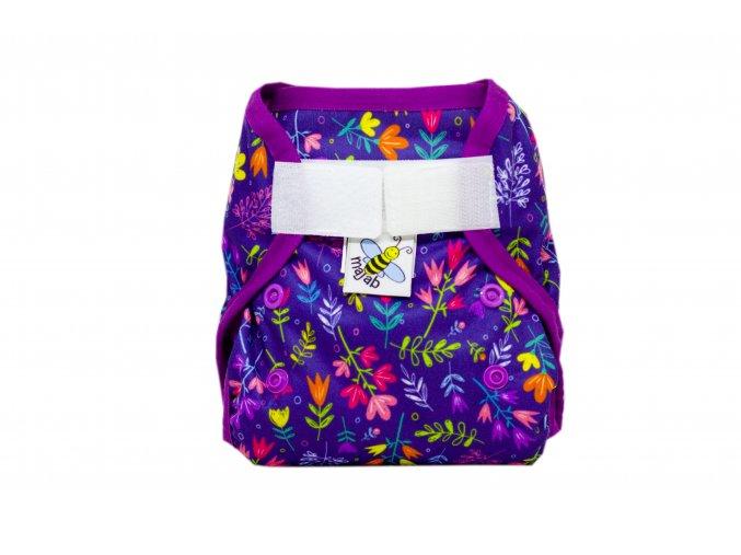 PUL svrchní kalhotky Letní louka novorozenecké (super air PUL)