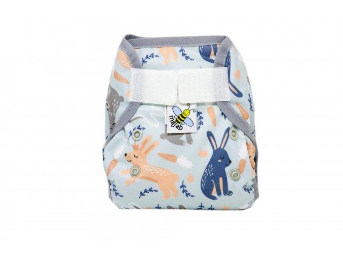 PUL svrchní kalhotky Zasnění zajíčci novorozenecké (super air PUL)