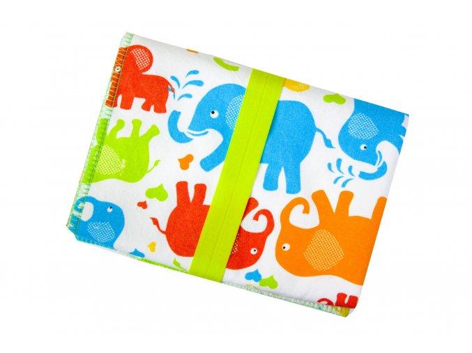 Přebalovací podložka Sloni barevní