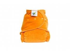 Kalhotková plenka velur Oranžová PAT