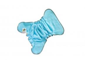 Novorozenecká kalhotková plenka na snappi - Tyrkys/hnědá