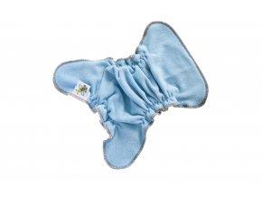 Novorozenecká kalhotková plenka na snappi - Světle modrá/hnědá