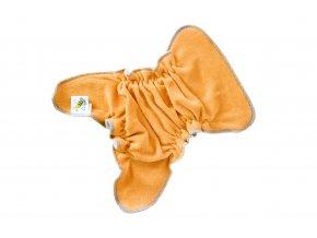 Novorozenecká kalhotková plenka na snappi - Medová/modrá