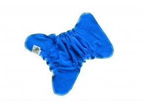 Novorozenecká kalhotková plenka na snappi - Modrá/žlutá