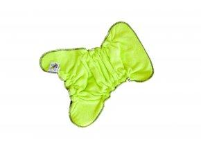 Novorozenecká kalhotková plenka na snappi - Zelenkavá/černá (bambusové froté)
