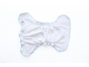 Kalhotková plenka na snappi Bílá/tyrkys