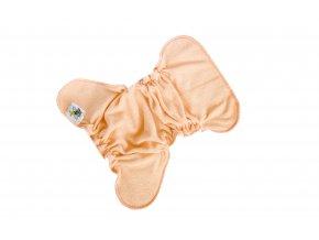 Novorozenecká kalhotková plenka na snappi - Lososová/lososová