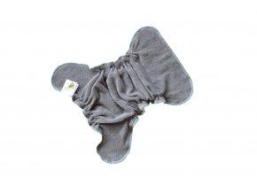 Novorozenecká kalhotková plenka na snappi - Antracitová/tyrkys