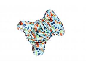 Novorozenecká kalhotková plenka na snappi - Medvídek (bambusové froté)