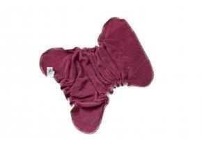 Kalhotková plenka na snappi Vínová/tyrkys