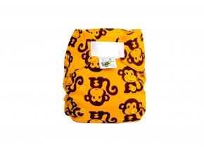 Kapsová plenka AIO - Opice/žlutá (fleece)