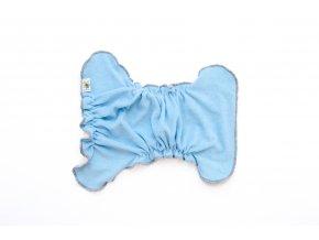 Kalhotková plenka na snappi SVĚTLE MODRÁ/hnědá