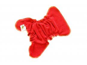 Novorozenecká kalhotková plenka na snappi - Červená/žlutá