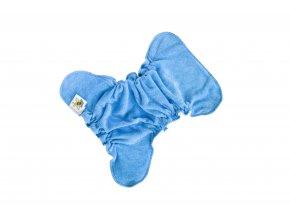 Novorozenecká kalhotková plenka na snappi - Tmavý tyrkys/modrá