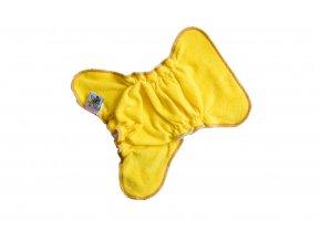 Novorozenecká kalhotková plenka na snappi - Žlutá/zelená