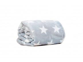 MAJAB Dětská deka Hvězdy šedé