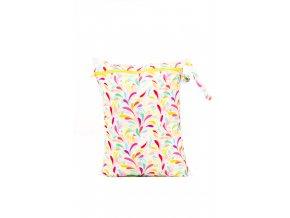 PUL pytel na plenky Floral (žlutý zip) - jednokomorový