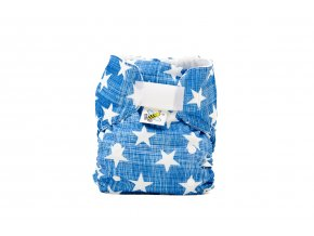 Kapsová plenka AIO - Hvězdičky na modré/tyrkys (fleece)