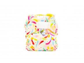 Kapsová plenka AIO - Floral/žlutá (fleece)