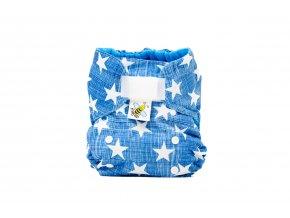 Kapsová plenka AIO - Hvězdičky na modré /bílá (bambus)