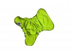 Novorozenecká kalhotková plenka na snappi (bambusové froté) - Zelená/černá