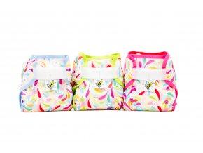PUL svrchní kalhotky Floral MINI (novorozenecké)