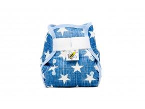 PUL svrchní kalhotky Hvězdičky na modré MINI (novorozenecké)