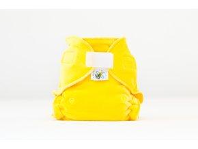 Kalhotková plenka velur ŽLUTÁ suchý zip