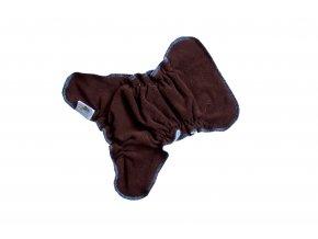 Novorozenecká kalhotková plenka na snappi - Hnědá/zelená