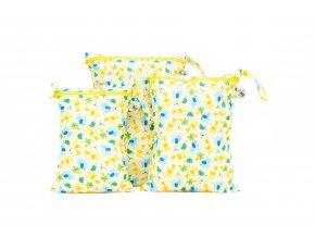 PUL pytel na plenky Žirafky (žlutý zip)