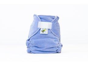 Kalhotková plenka velur Světle fialová suchý zip