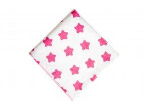 Přebalovací podložka Růžové hvězdičky 100x100cm