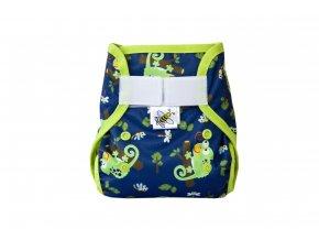 PUL svrchní kalhotky Chameleoni novorozenecké (super air PUL)