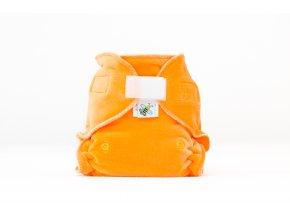Kalhotková plenka velur Oranžová suchý zip